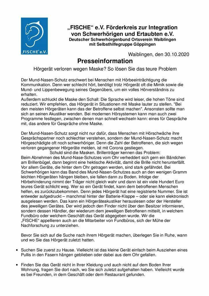 thumbnail of Presseinfo Oktober 2020 – 1