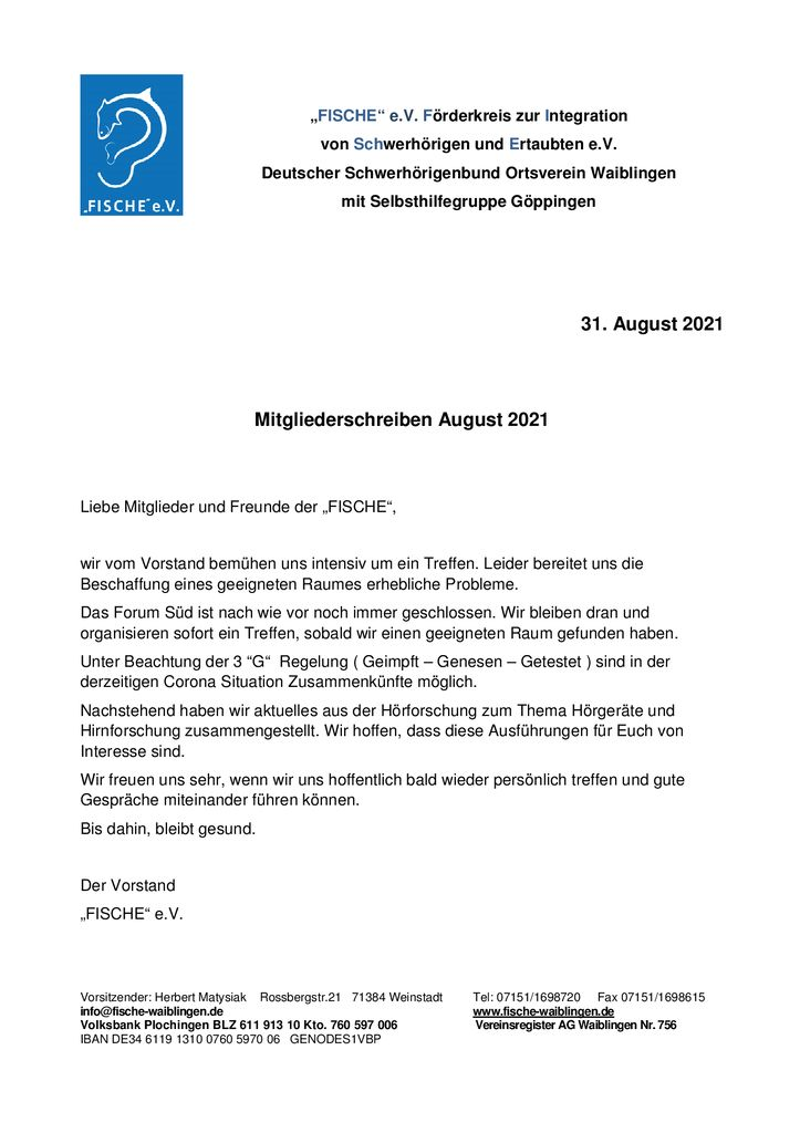thumbnail of Mitgliederschreiben August 2021 – 1